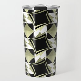 golden and black rhombus Travel Mug