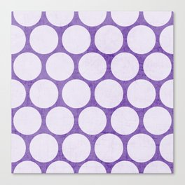 purple and white polka dots Canvas Print