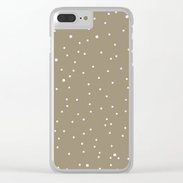 polka dots in the nude sky Clear iPhone Case