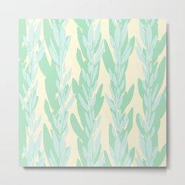 Abstract Tropical Print Metal Print