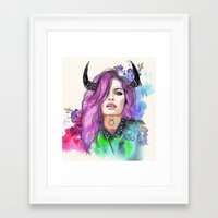 taurus Framed Art Prints featuring Taurus by Sara Eshak
