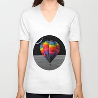 balloon V-neck T-shirts featuring Balloon by Cs025