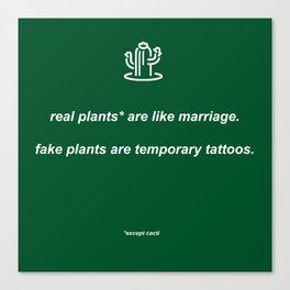 plants: dark green Canvas Print