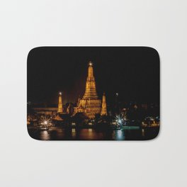 Wat Arun at Night, Bangkok, Thailand Bath Mat