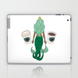 Mermaid Coffee Butt Dark - Fast Food Butts Laptop & iPad Skin