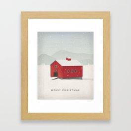 """Merry Christmas"" Holiday Card Framed Art Print"