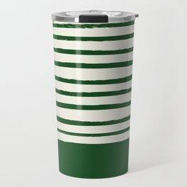 Holiday x Green Stripes Travel Mug
