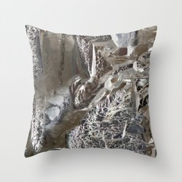 Silver Crystal First Throw Pillow