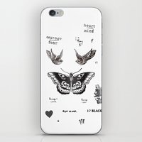 la iPhone & iPod Skins featuring Tattoo à la Harry by Kate & Co.