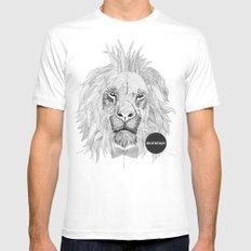 Asleep lion MEDIUM Mens Fitted Tee White