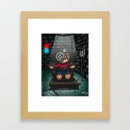 La chaise électrique Framed Art Print