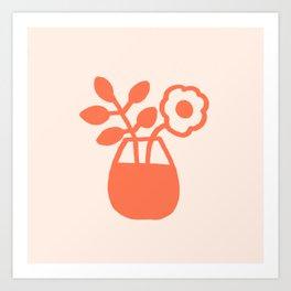 Flowers on the Table Art Print