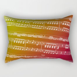 Double Bass Concerto Music on Red Rectangular Pillow