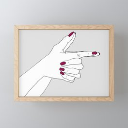 Bang Bang Framed Mini Art Print