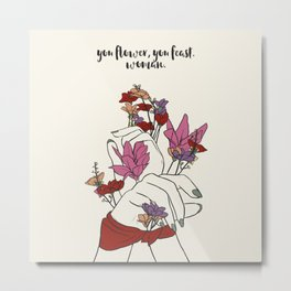 flower and feast Metal Print