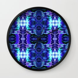 Psycho - Electric Tesla Slide Neon Blue Lighting by annmariescreations Wall Clock