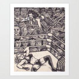 Wrestling Art Print