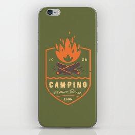 Fire - Camping iPhone Skin