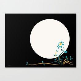 Moonlightflower Canvas Print