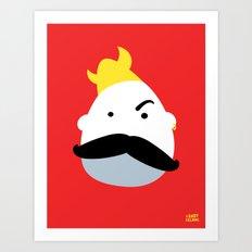 Moustache Viking Art Print