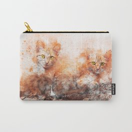 Cat Looking Kitty Carry-All Pouch