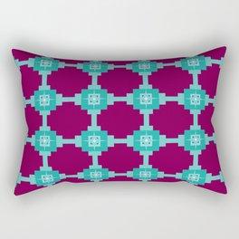 Blue Fretwork Rectangular Pillow