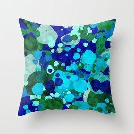 Blue Green Sea Throw Pillow