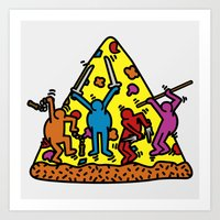 keith haring Art Prints featuring Keith Haring & Turtle by le.duc
