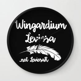 Wingardium Leviosa - black Wall Clock