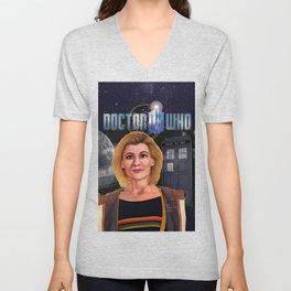 13th Doctor poster Unisex V-Neck