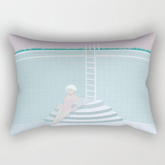 Emptied, Drained  Rectangular Pillow