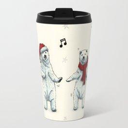 The polar bears wish you a Merry Christmas Travel Mug