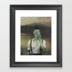 When smoke gets in your eyes Framed Art Print