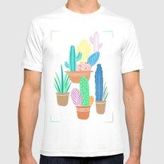 Cactus White MEDIUM Mens Fitted Tee
