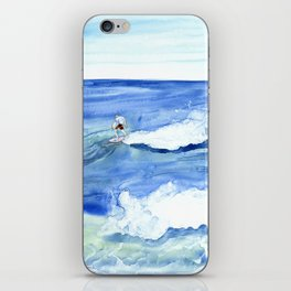 """""""Surfing"""" Watercolor on yupo paper iPhone Skin"""