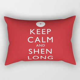 Keep Calm and Shen Long Rectangular Pillow