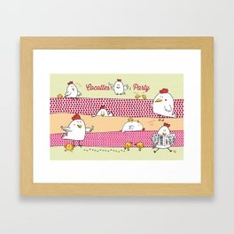 Cocottes Party Framed Art Print