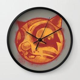 Red cat Rocka Rolla Wall Clock