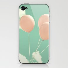 Soft Pink Balloons on Soft Blue - Turquoise Sky  iPhone & iPod Skin