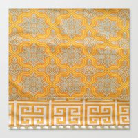 "orange pattern Canvas Prints featuring OrangE paTTern by ""CVogiatzi."