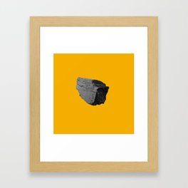 Yellow Boulder Framed Art Print