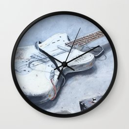 rock n roll guitar Wall Clock