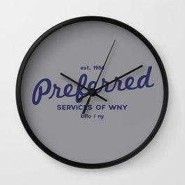 Preferred Services of WNY Wall Clock