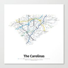 Highways of the USA – The Carolinas Canvas Print