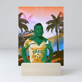 Pele retro art Mini Art Print