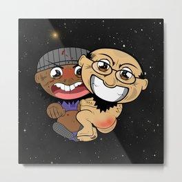 Space Buddies G&J Metal Print
