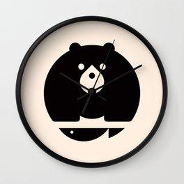 Bear & Fish Wall Clock