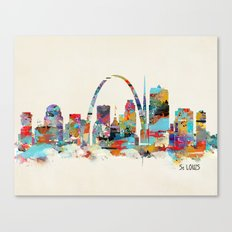 saint louis missouri skyline Canvas Print