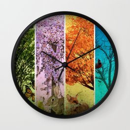 Four Seasons One Picture Wall Clock