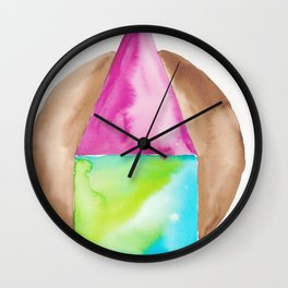 180818 Geometrical Watercolour 6| Colorful Abstract | Modern Watercolor Art Wall Clock